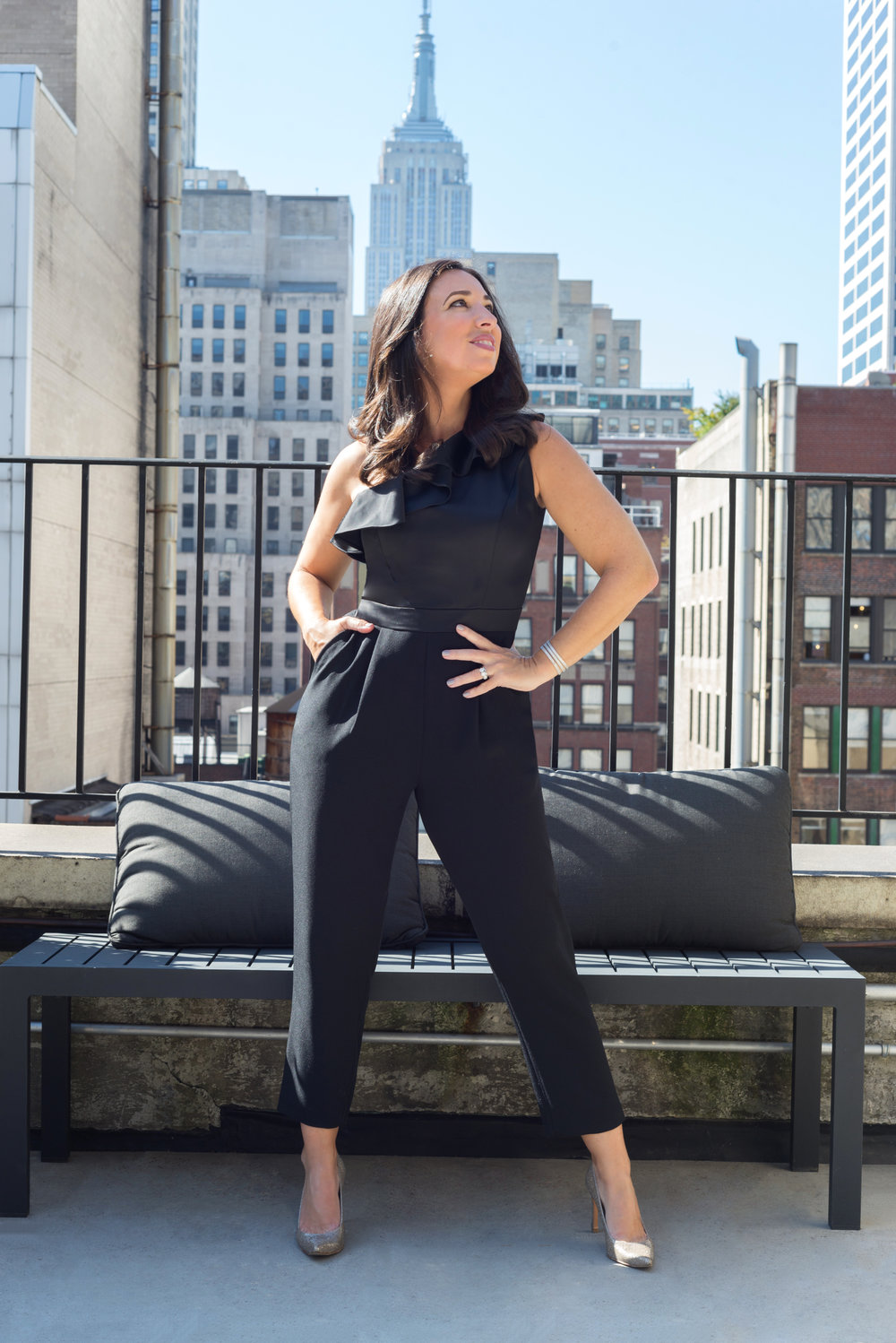 Melissa is wearing our  Taliah Jumpsuit
