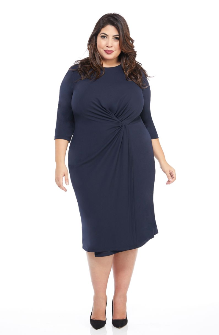 The Ariel Dress in Dark Navy