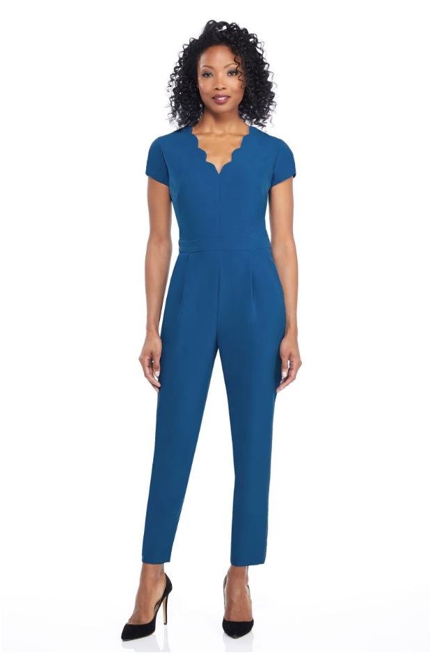 The Jill Jumpsuit - Cadet Blue
