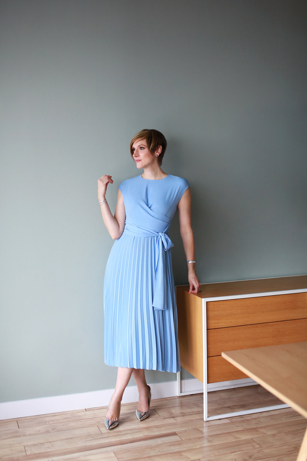2. The Betty Dress in Sky Blue - + Also comes in navy+ Available in petite and curve sizes