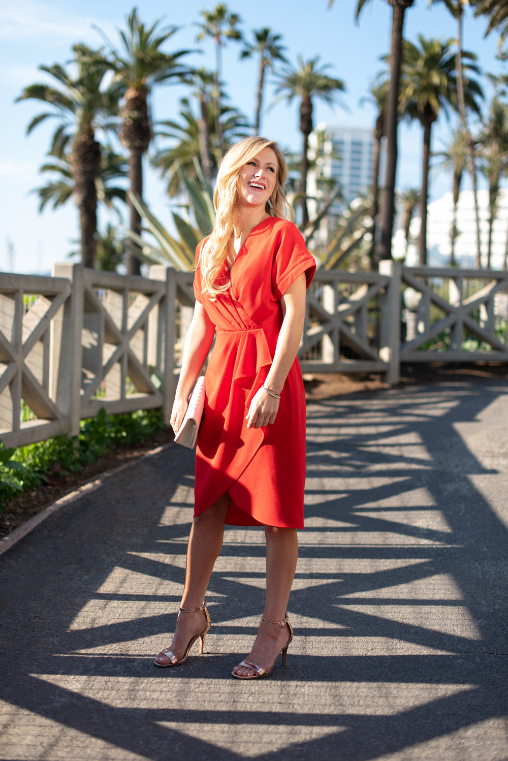 Refresh Your: Date Night Dress - The Deloris Faux Wrap+ Comes in red and navy