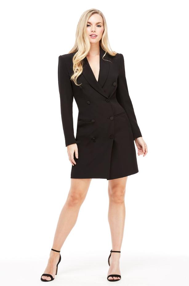 The Toni Tuxedo Dress - Black