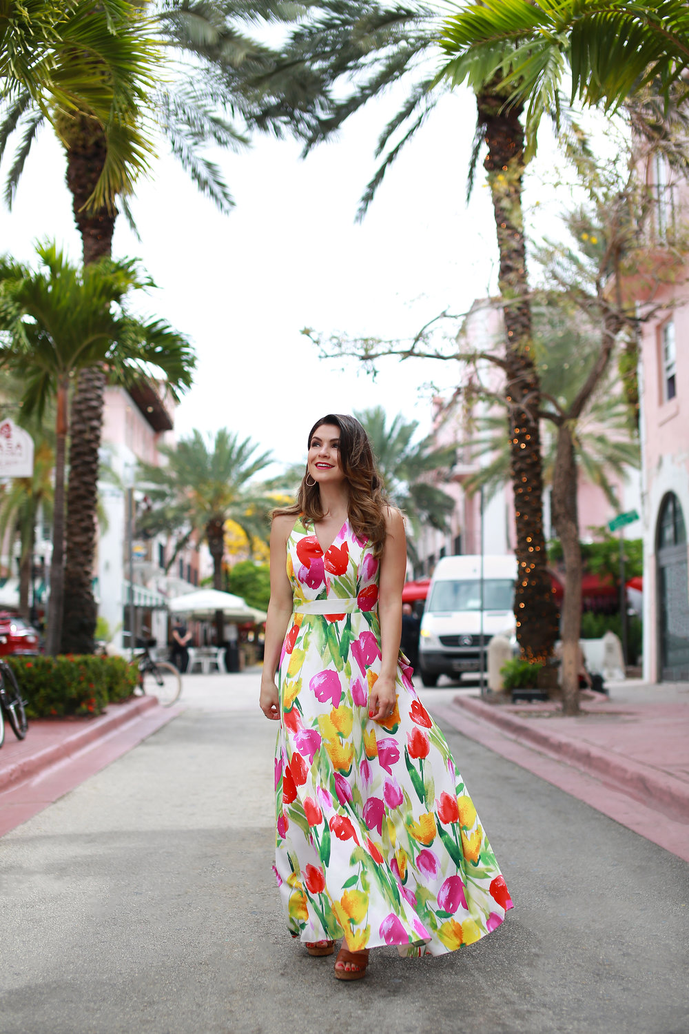The Eliana Maxi Dress - Look familiar? This tulip print maxi is the dress that created so much buzz after appearing in our Spring 2019 teaser video.