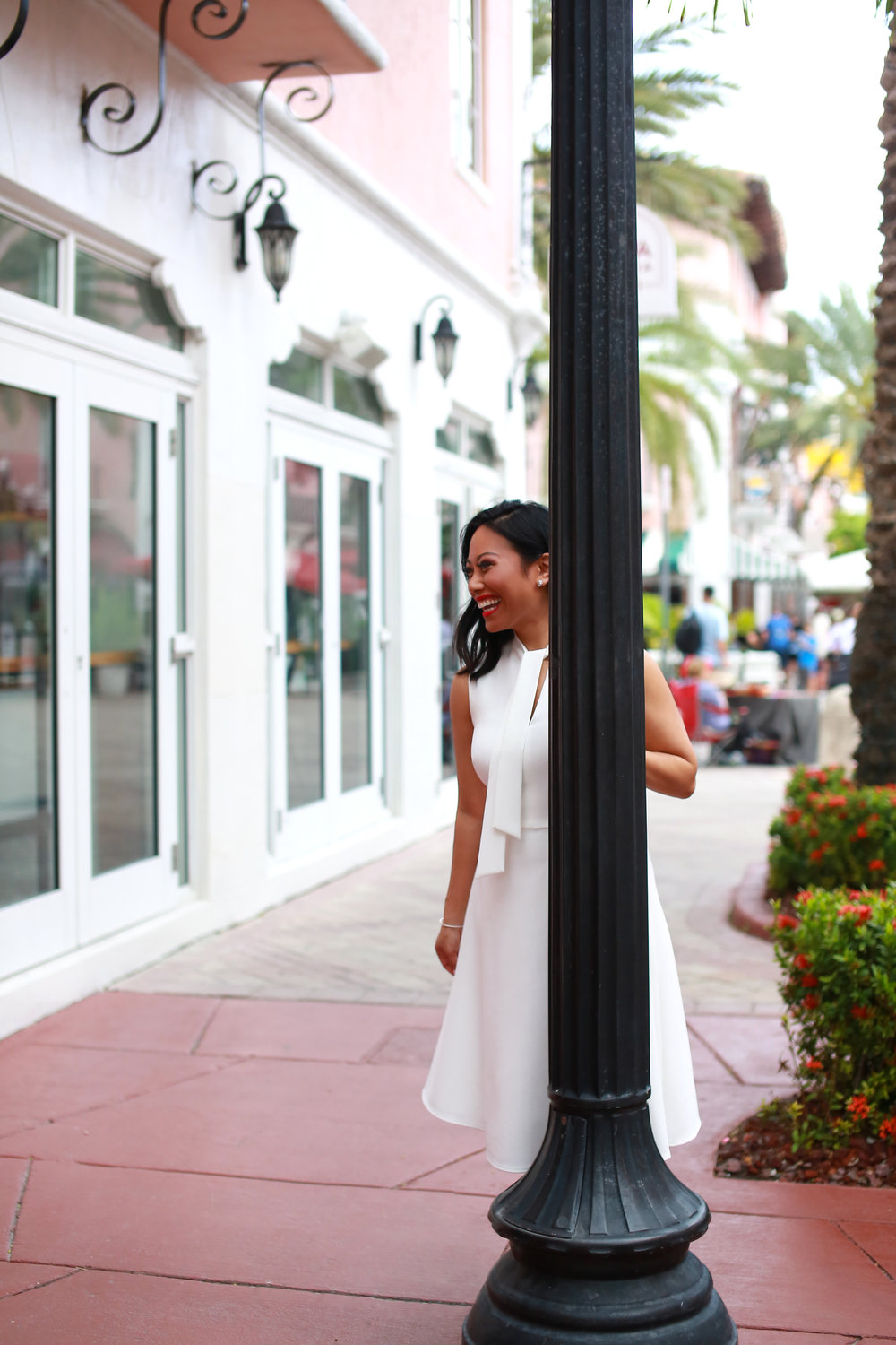 The Ruthie Fit & Flare Dress - in soft white