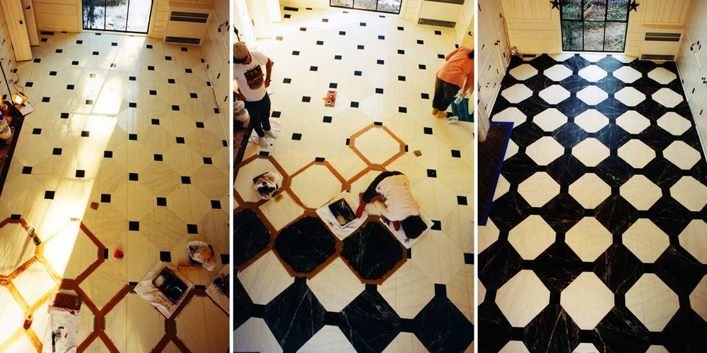 Large Black and White Marble Pattern