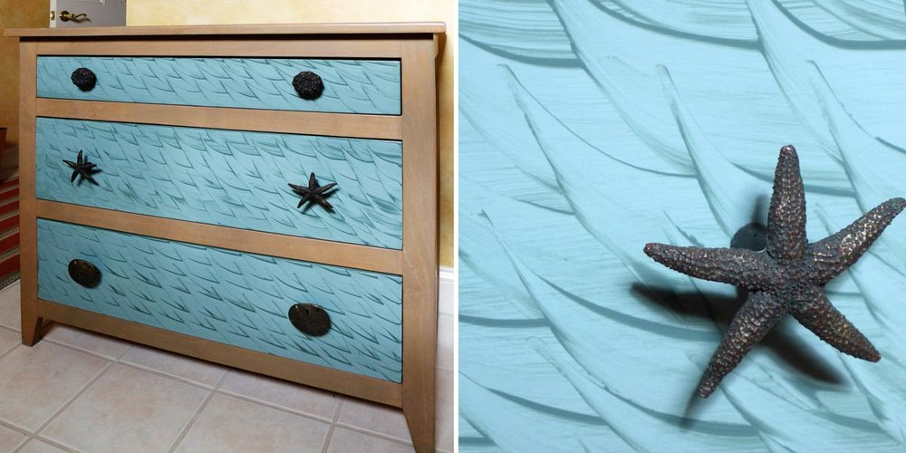 Decorative Treatment Chest of Drawers