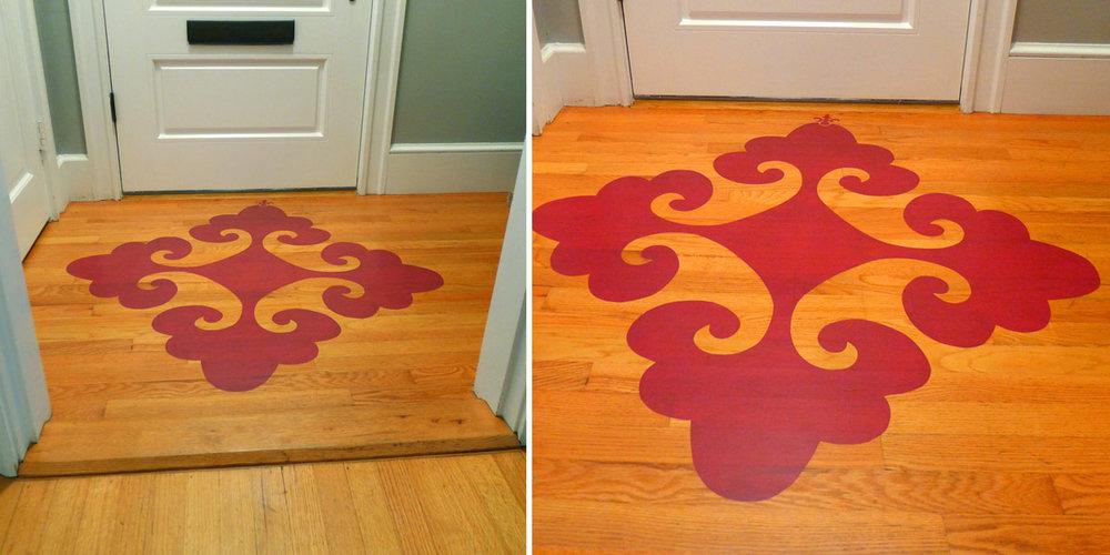 Decorative Flourish on Floor