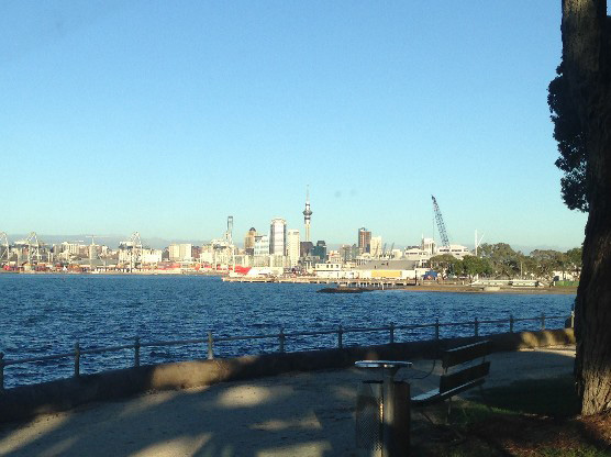 Photo: Auckland City taken from Devonport (photo by Te Kerekere Roycroft)