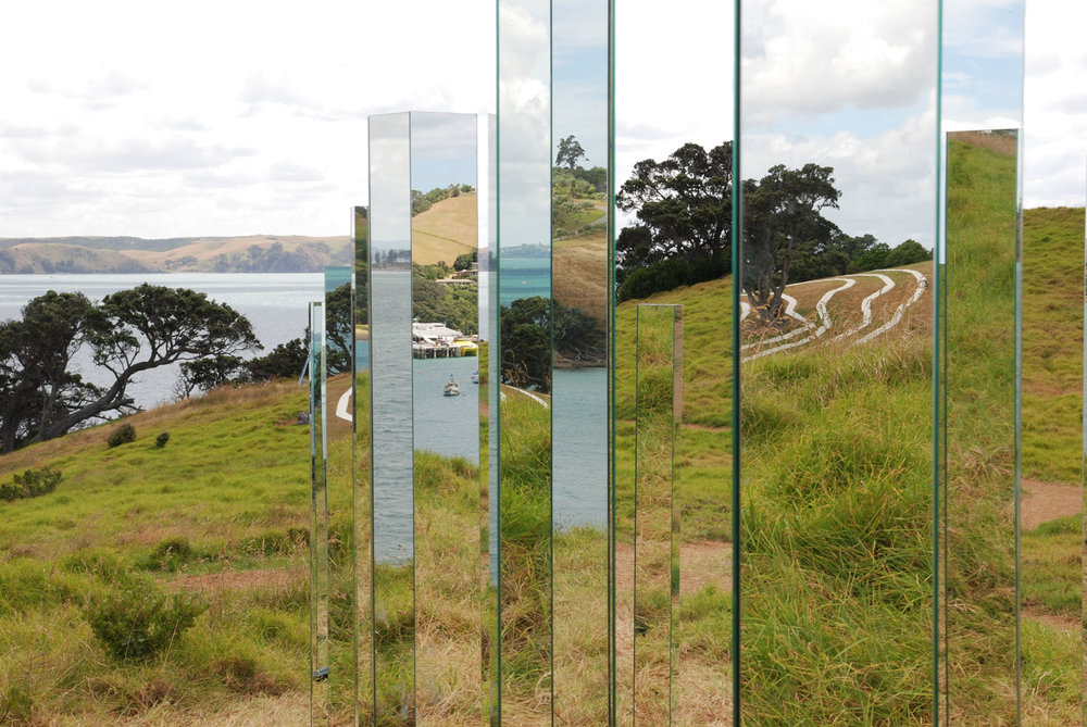 Waiheke Island Sculpture Trail - neat slices of sea, hills and sky to be consumed?