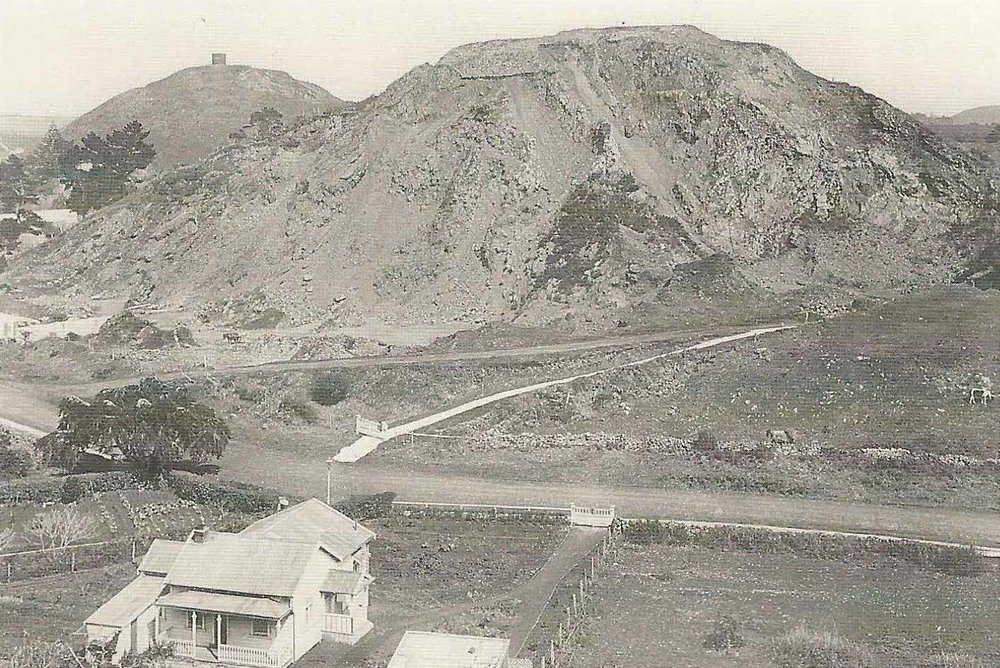 Three Kings in Auckland, once an important pa site, now a quarry