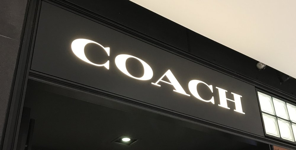Signage we installed for Coach @ Rideau Shopping Centre Ottawa