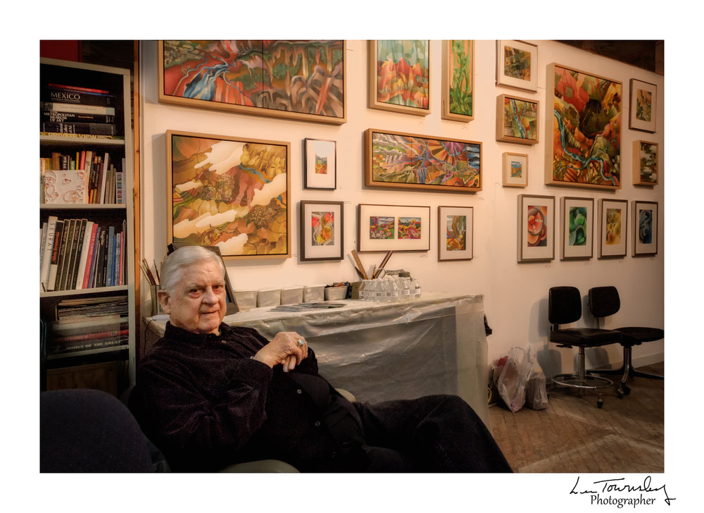 Bob Nunn in his Studio