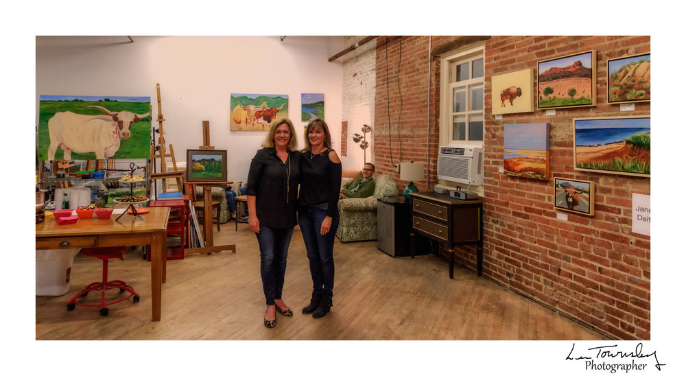 Janese Deitch & Teresa Meeks Bristol in their shared studio