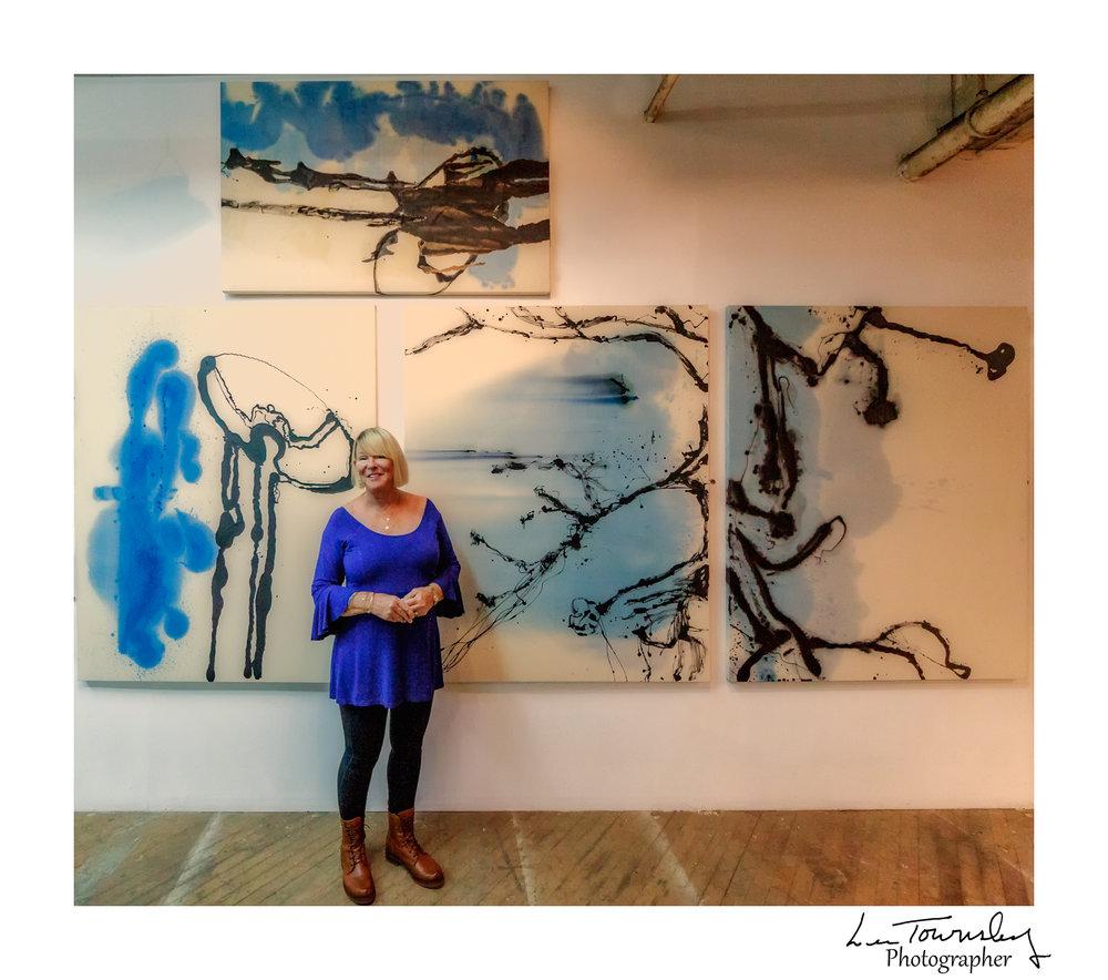Marsha Oliver Moser's studio