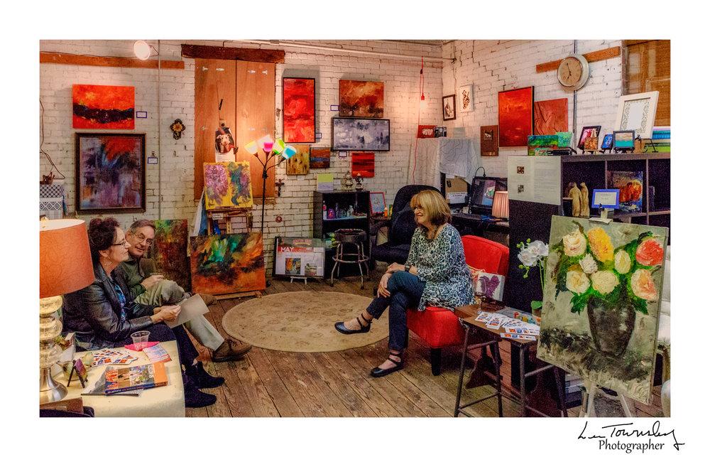 Kathy Baker Mackey & Marcia Martin's studio