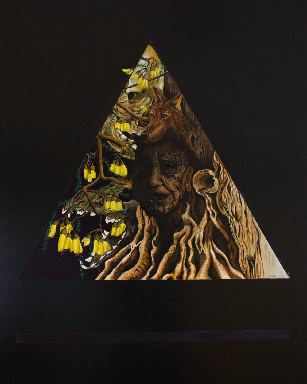erWilson The bone collector & the Kowhai Tree_Oil on Canvas_120cmx80cm.jpg