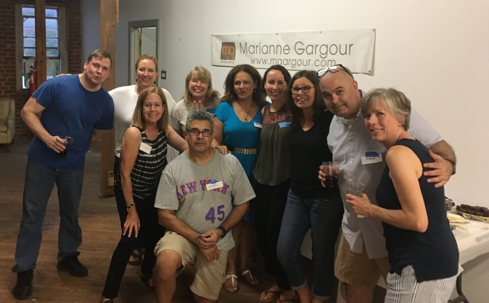 Continental Gin Building Social August 1, 2017 Tanya Joiner Slater Julie Shunks Brown Elizabeth Rose Wilson Sarah Theobald Hall David Klucsarits Tye Miller Monica Cowsert Connie Roschlau Ball Mark Quintana Edith Torres (new to building)