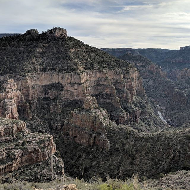 A cloudy winter day in eastern Arizona.
