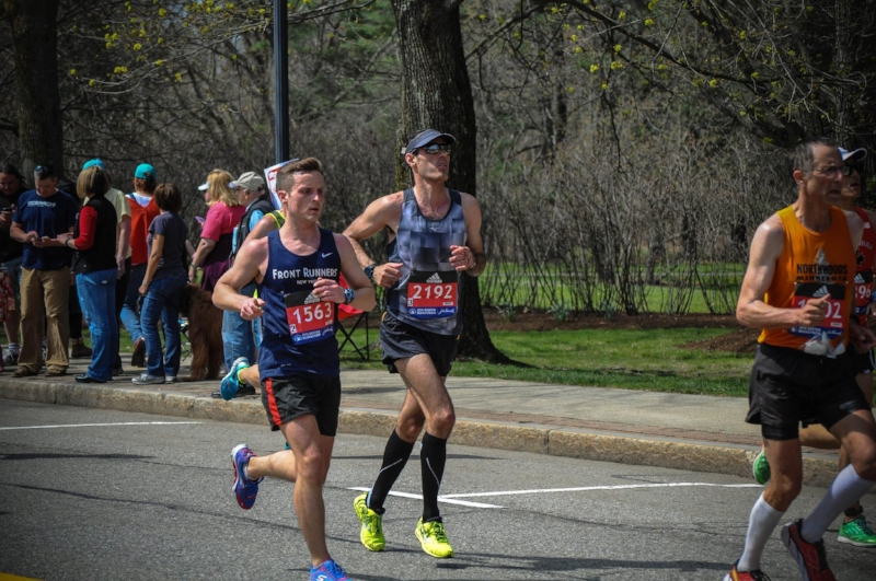 Sweating out a hot race in 2016. Photo by  John Tran