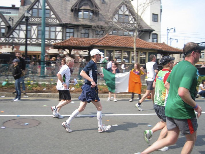 Paul runs the 2011 Boston Marathon. Photo by Katrina Amaro.