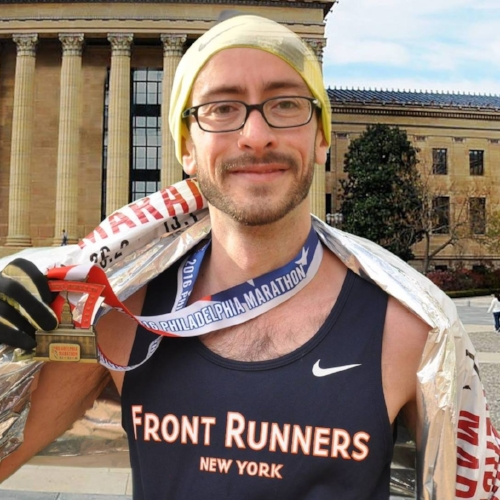 Olivier's debut marathon and BQ was Philadelphia in 2016, in a time of 2:58:32