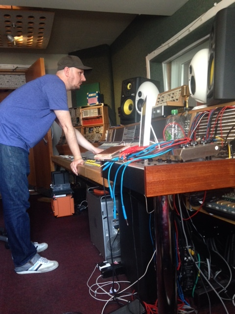 Ben Thackeray in the studio with The Dials