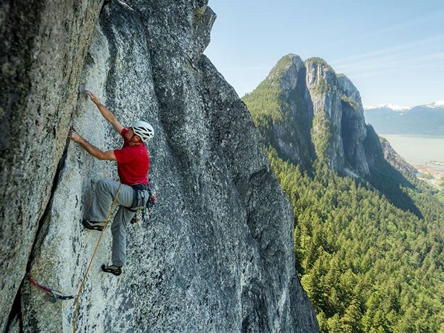 @colinmoorhead of @squamishrockguides about to top out Slhaney. . . . . . #squamish #squamishcom #arcteryx #getolympus #squamishisawesome #tradisrad #hellobc #explorebc #beautifulbc #climbingrocks #climbing_pictures_of_instagram #climbinglife #multipitch #liveclimbrepeat  #climbingnation #getoutstayout #travelstoke #exploregram #travelgram #travelbc #travelphotography #beautifuldestinations #borninthemountains