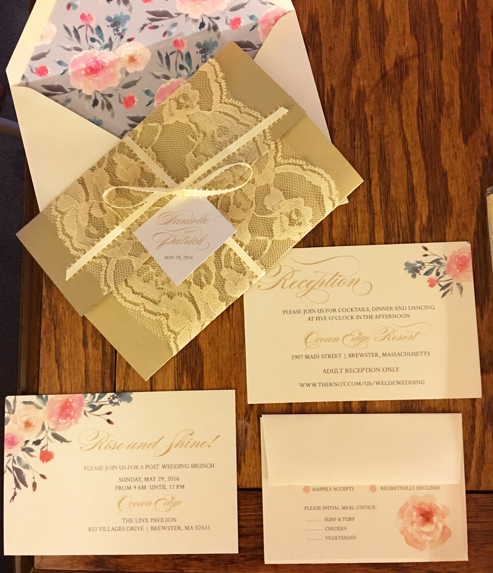 first line of wedding invitations%0A laceRoseInvitations jpg