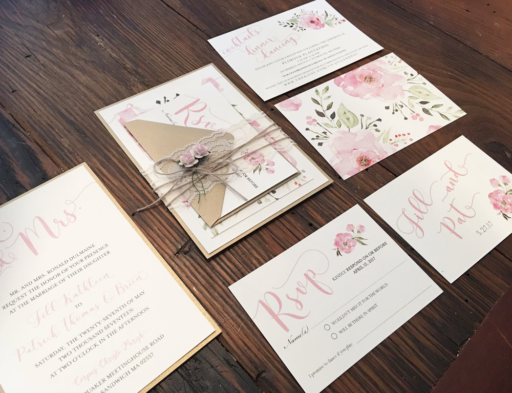 how to start my own invitation printing business%0A laceFlowerInvitations jpg