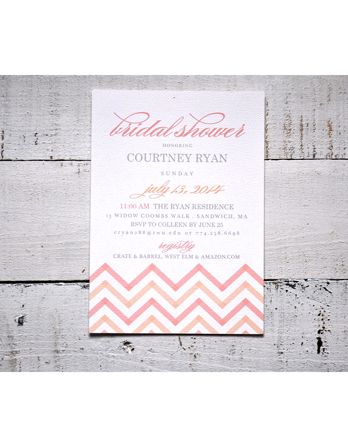 Bridal Shower Invitation Example Modern Vintage Design Studio