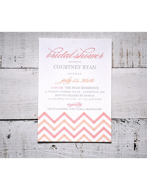 bridal shower invitation example