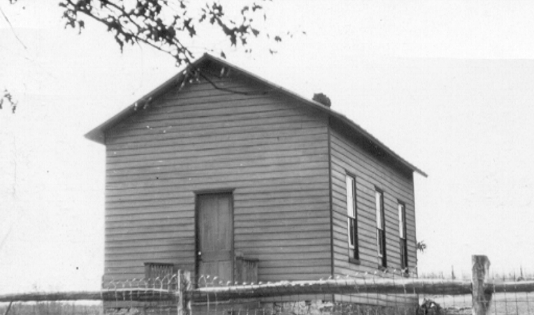 Early image of the Ashburn Colored School.