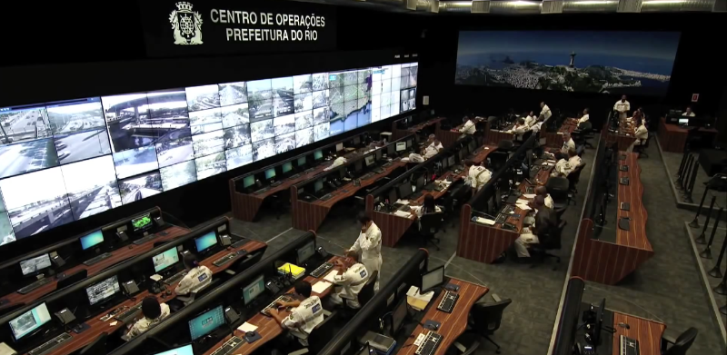 The Rio Operations Center, inaugurated in December 2010, integrates the data and monitoring functions of approximately 30 municipal and state agencies and corresponding utilities under one roof.