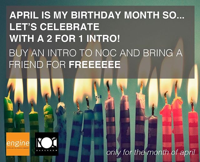 Don't miss out on this great deal 🎉🎉🎉 • • • #nocdarkroom #birthday #enginebiddeford #film #blackandwhite_photos #april #comecreate #withfriends