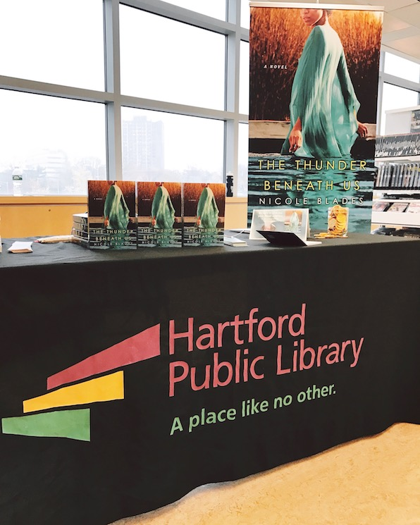 Hartford Public Library event for The Thunder Beneath Us by Nicole Blades
