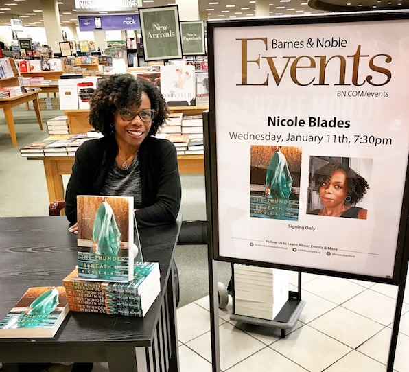 Nicole rockin' it at a Barnes and Noble author event!