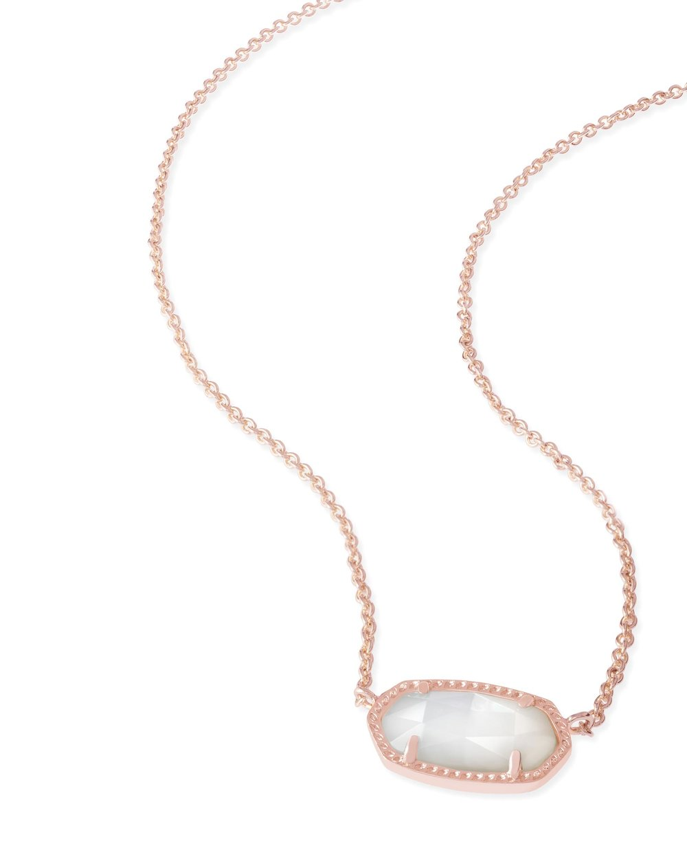 Kendra Scott Elisa Rose Gold Pendant Necklace