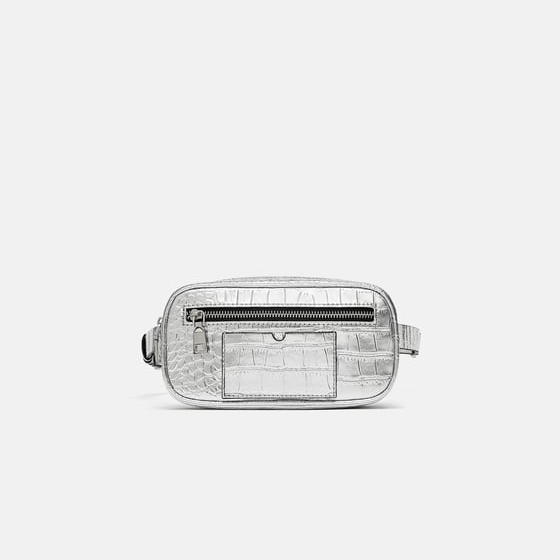 Zara Metallic Belt Bag.jpg