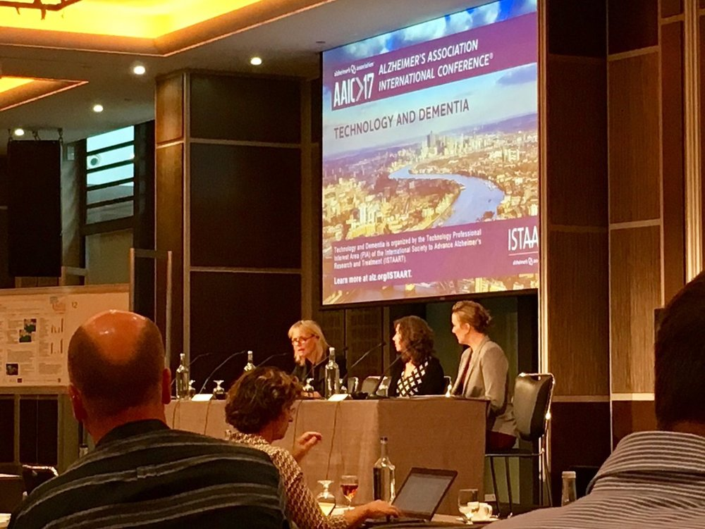 The distinguished panel addressing the Technology Interest Group at 2017 AAIC in London, UK