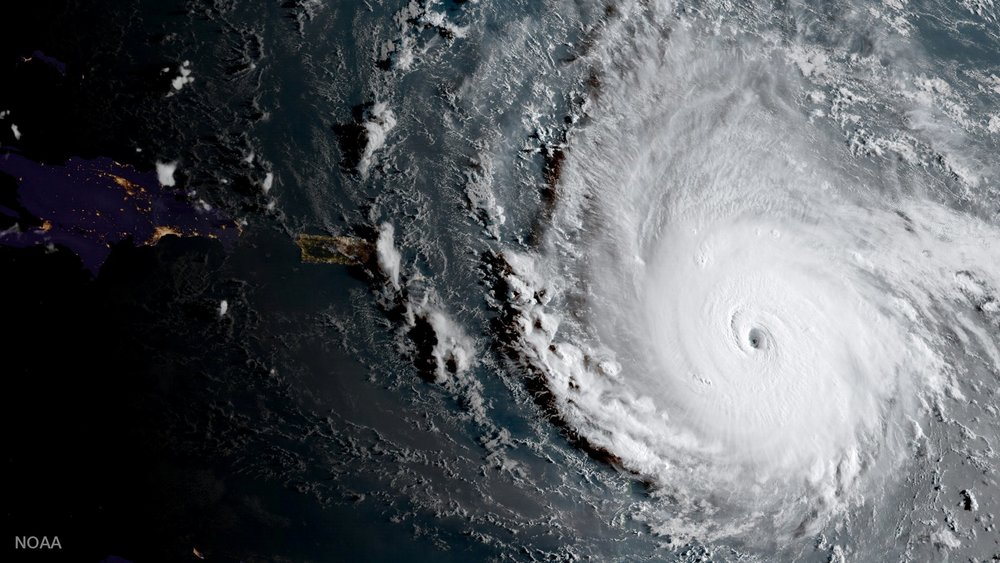 Hurricane Irma - This category 5 hurricane was the strongest Atlantic storm ever recorded with maximum sustained winds of 185mph and gusts up to 210mph.