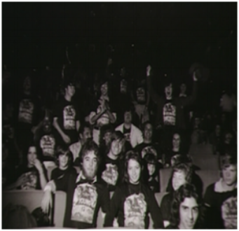 Movie fans in a theater