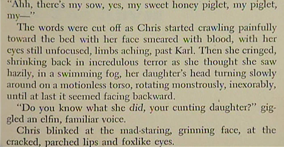 Page from The Exorcist novel