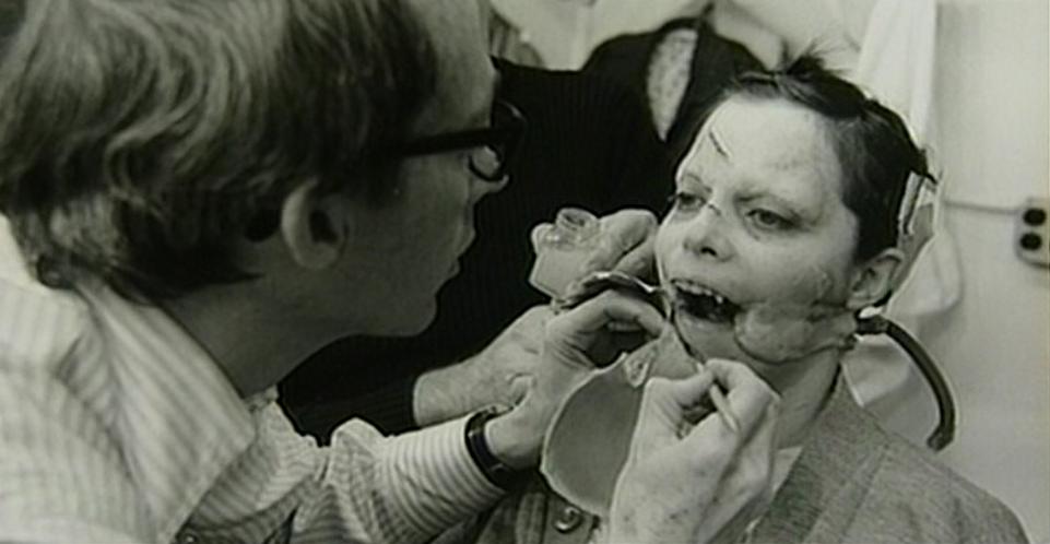 Eileen Dietz in the vomit rig