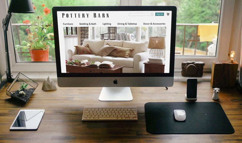 Pottery Barn Website Redsign
