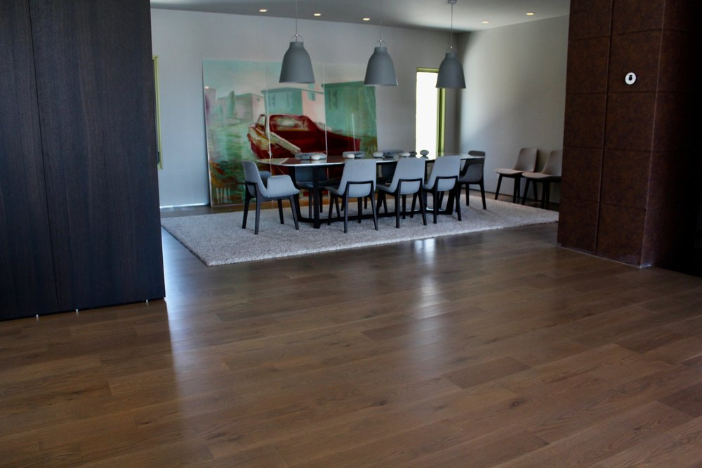 Beautiful floor installed in Park City home. We do things right the first time. No squeaky or uneven floor. No gaps, just beautiful solid craftsmanship.