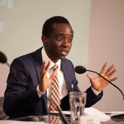 Chernor Bah - A leading youth advocate for global education, a girl champion and former refugee from Sierra Leone, Chernor Bah is currently an Associate at the Population Council, leading a collaborative initiative to provide solutions to adolescent girls affected by the Ebola Outbreak. In 2012, he was appointed by the United Nations Secretary General to serve as the Youth Representative on the High Level Steering Committee for the Secretary General's Global Education First Initiative. From 2012-2015, Bah also served as the Chair of the initiative's Youth Advocacy Group- leading a dynamic group of young advocates for global education.