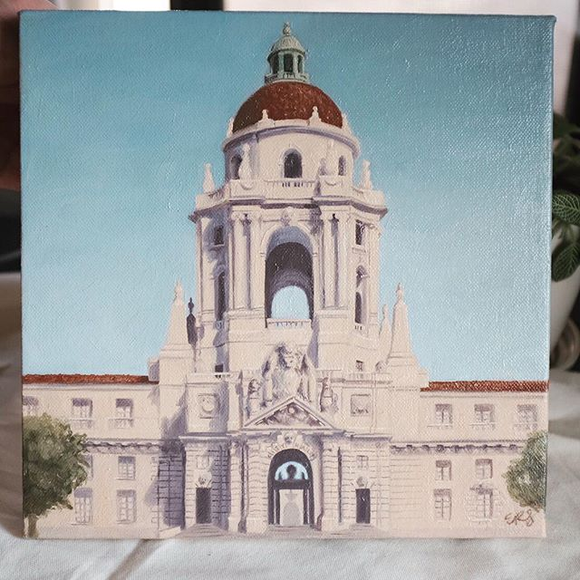 Some wonderful friends of ours recently moved from Pasadena to Texas, so I wanted to make sure they took a piece of Pasadena with them :) Always fun to pull out the real paints for a bit 🎨