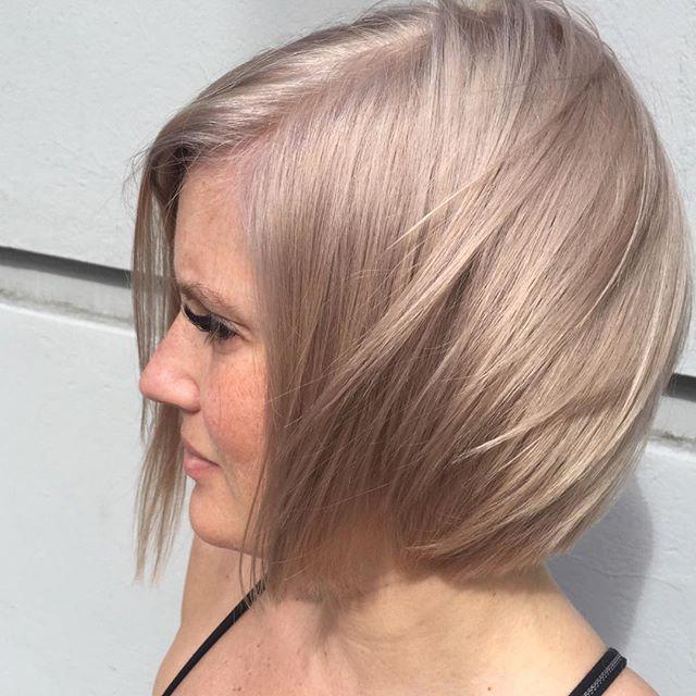 #eleveightsalon #bleachandtone #nofilter #blondebob #hairgoddessmichelle