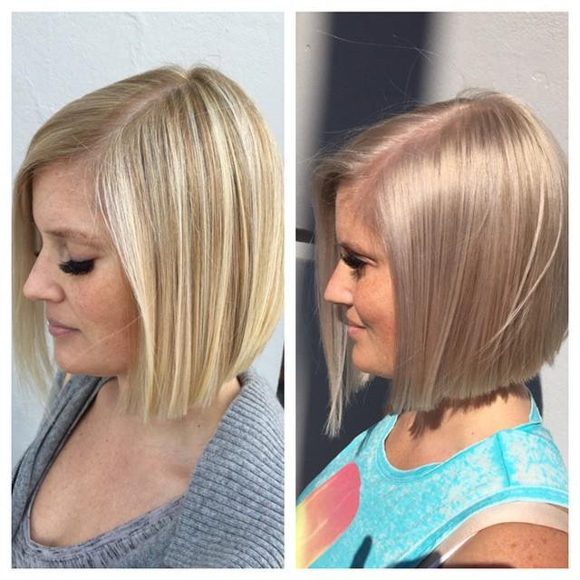 #seattlehair #beforeandafter#hairbyhairgoddessmichelle #bleachandtone#Blondebob#