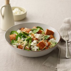 Roast Pumpkin Salmon with Feta and Spinach Salad